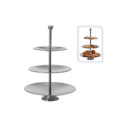 Excellent Houseware Etagere Etagere 3-Stufig rund Etagere 3-Stufig rund, Edelstahl, (3-tlg)