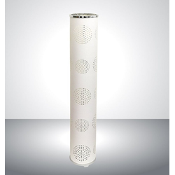 TRANGO LED Stehlampe, 1245L Modern Design LED Stehleuchte *WAIKIKI* inkl. 2x E14 LED Leuchtmittel Stehlampe mit Stoffschirm in WEISS mit Mond-Dekor, Standleuchte, Deko-Stehlampe, Wohnzimmer Lampe, Höhe ca. 100cm