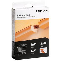 PARADOR Leistenclips 24 Leistenclips, für Leistentypen DAL 1, DAL 2, und DAL 3 braun