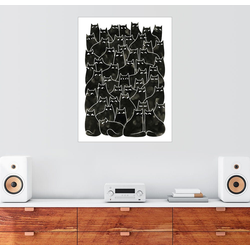 Posterlounge Wandbild, Verdächtige Katzen 60 cm x 80 cm