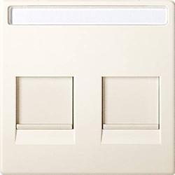 Merten Abdeckung Netzwerkdose Weiß MEG4564-0344
