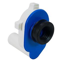 HAAS OHA PE-Urinal-Absaugsifon - Ablauf waagerecht - passend für DN 50 - mit Dichtung - 6280