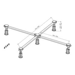 poresta Ferroplast® D5 Mini XL Duschwannenfuß für Acryl- und Stahlduschwannen