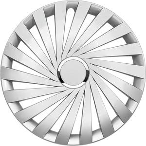 in.pro. engineering Radzierblende Warrior 17 Zoll Silber glänzend mit Chromring Set 4 Stück
