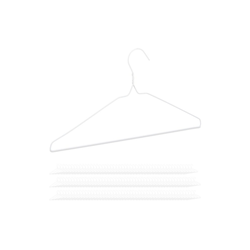 relaxdays Kleiderbügel 150 x Drahtbügel weiß