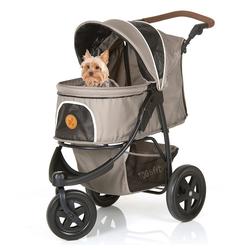 Hauck Kinder-Buggy Togfit Pet Roadster - Grau, Hundebuggy / Hundewagen Haustier Buggy bis 32 kg, flexible Schieberhöhe, klein faltbar