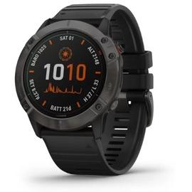 Garmin fenix 6X Pro Solar titan mit schwarzem Armband