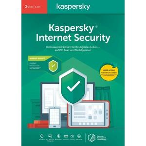 Kaspersky Internet Security 2020 Antivirus Flatpack 3 PC für 1 Jahr Win/Mac