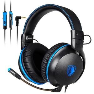 Sades Fpower SA-717 Gaming-Headset (Mikrofon abnehmbar, Kompatibel mit PS4, PS5, Xbox One, Xbox Series X/S und Nintendo Switch) blau