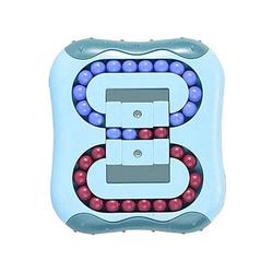 kueatily Zerrspielzeug Magic Beans, Intelligence Fingertip Rubik's Cube Lernspielzeug, Magic Cube Little Magic Beans Spielzeug, Denksport-Puzzle-Set, Stressabbau-Spielzeug, für Kinder und Erwachsene, Kunststoff-Schloss-Spielzeug grün