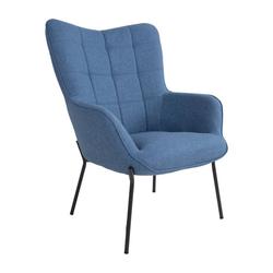 ebuy24 Relaxsessel Glow Sessel blau, schwarze Beine.