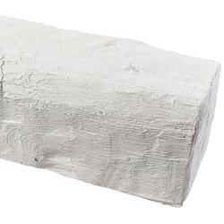 HOMESTAR Dekorpaneele 12 x 12 cm, Länge 2 m, Holzimitat, weiß weiß