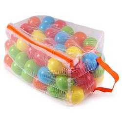 ONDIS24 Bällebad-Bälle 100 Bälle für Bällebad Badebälle Set Bälleparadies für Kinder mit Ballnetz
