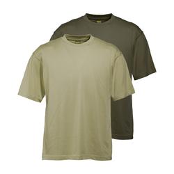 Wald & Forst T-Shirt 2er-Pack Schilf + Oliv (Größe: L)