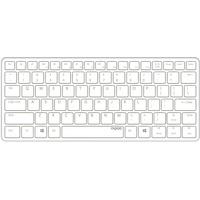 Rapoo E6350 Bluetooth Ultra-Slim Keyboard DE weiß/silber (13891)