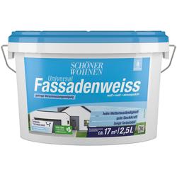 SCHÖNER WOHNEN-Kollektion Fassadenfarbe Universal-Fassadenweiss, hoch wasserdampfdurchlässig und wetterbeständig, 2,5 l