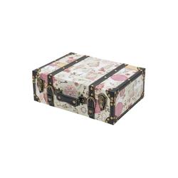 HMF Aufbewahrungsbox Vintage Koffer, aus Holz, Deko Barock, 38 x 26 x 13 cm