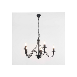 Licht-Erlebnisse Kronleuchter FIORANO Schwarzer Kronleuchter rustikal Pendelleuchte Esstisch Hängeleuchte Lampe