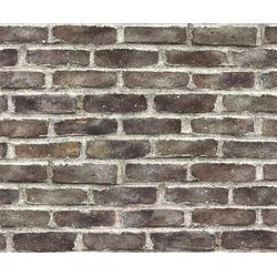 WOW Vliestapete Steine, Steinoptik, (1 St), Rot - 10m x 52cm
