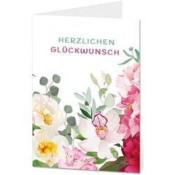 LUMA Glückwunschkarte Blumen DIN B6