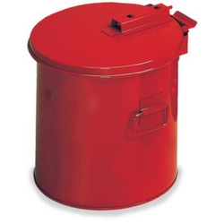 Tauchbehälter, Stahl, 19l, HxØ 360x360mm, rot