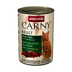ANIMONDA Carny Adult RIND + REH MIT PREISELBEEREN 6 x 200 g