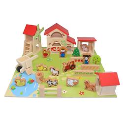 Coemo Spielcenter, (25-tlg), Farm aus Holz