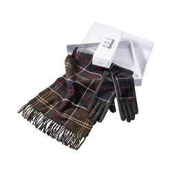 Barbour Schal Set Schal & Handschuh grün L