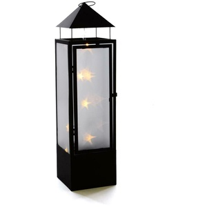 Laterne 20 LED Holografie 3D Effekt 70 cm Batterie Windlicht Leuchte Timer außen