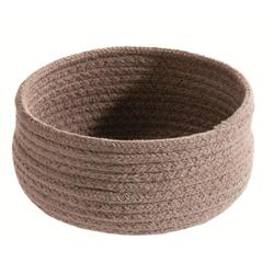 spirella Aufbewahrungskorb TOBAGO (1 Stück), Aufbewahrungskorb aus geflochtener Baumwolle, formstabil, Ø 17x9 cm Ø 17 cm x 9 cm