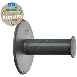 KOZIOL Toilettenpapierhalter PLUG N ROLL, aus 100% recyceltem Material grau 13 cm x 14 cm x 13 cm