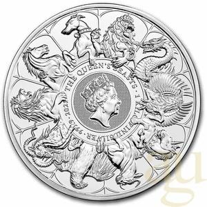 1 Kilogramm Silbermünze Queens Beasts Completer Coin 2021