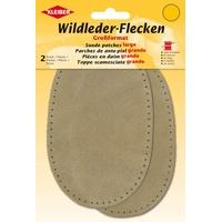 Kleiber + Co.GmbH Wildlederflecken Gross, Beige, 16x10 cm