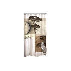 dynamic24 Duschvorhang Breite 180 cm, Textil Motiv Wannenvorhang 180x200 Sahara Badewannenvorhang Bad Dusche Vorhang