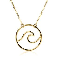 Vergoldete 925er Silberkette Wave