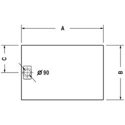 Duravit Rechteck-Duschwanne STONETTO 900 x 800 x 50 mm sand