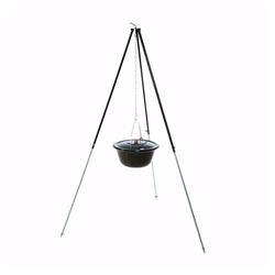 acerto® Feuerstelle acerto® Gulaschkessel 30L + Dreibein-Gestell (180cm)