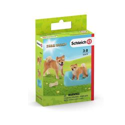 Schleich® Spielfigur Schleich 42479 - Farm World - Shiba Inu Mutter und Welpe
