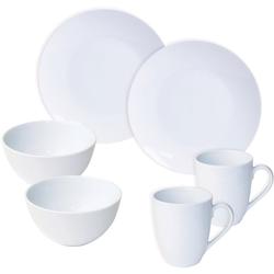 nurso Frühstücks-Geschirrset Mona (6-tlg), Porzellan weiß