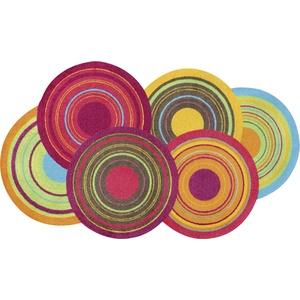 wash+dry Fußmatte Cosmic Colours 70x120 cm, Innen und außen, waschbar, Bunt
