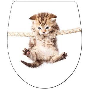 ADOB, Design WC Sitz Klobrille Klodeckel Cat Katze Absenkautomatik, abnehmbar zur Reinigung, 60862