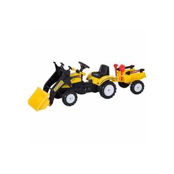HOMCOM Go-Kart Traktor mit Fontlader und Anhänger