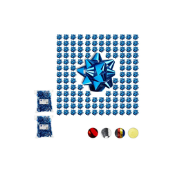 relaxdays Geschenkpapier 300 x kleine Geschenkschleifen blau