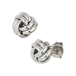 JOBO Paar Ohrstecker, Knoten 925 Silber