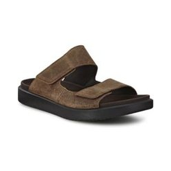 ECCO Flowt Sandale, Herren, Größe: 45 Normal, Braun, Rauleder, by Lands' End, Kakao - 45 - Kakao