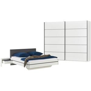 uno Komplett-Schlafzimmer, 4-teilig  Snow ¦ weiß ¦ Maße (cm): B: 270 H: 226 T: 60