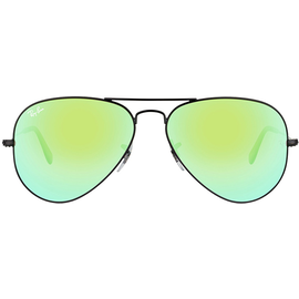 Ray Ban Aviator Flash Lenses RB3025 58mm black / green gradient flash