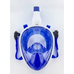 Full Face Schnorchel-Maske, blau-weiß 521