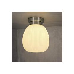 ZMH Deckenleuchte Glas Weiße Deckenlampe Flur E27 1 Flammig 20.3 cm x 20.3 cm x 24.5 cm