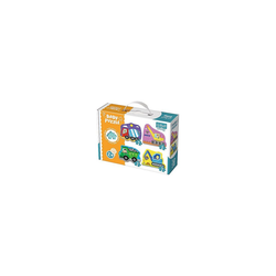 Trefl Puzzle Baby Puzzle - Baufahrzeuge (3/4/5/6 Teile), Puzzleteile